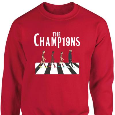 Liverpool  League Winners Sweatshirt 2019-2020 season crossroad design