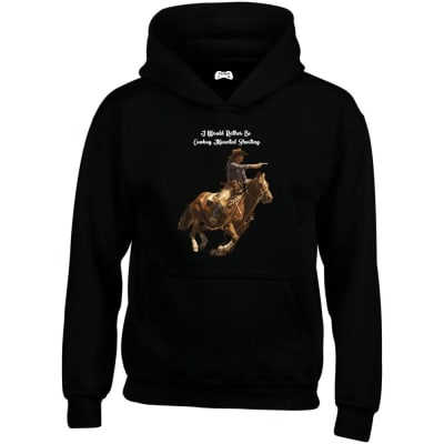 I Would Rather Be Cowboy Mounted Shooting Hoodie