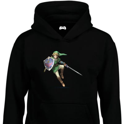 Link Classic Gaming Character Hoodie