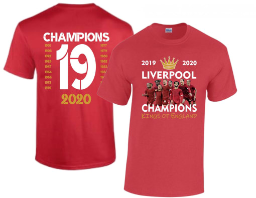 Liverpool League Champions Winners 2019-2020 T Shirt