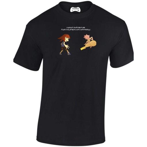 I Would Rather Be Playing American Handball T Shirt