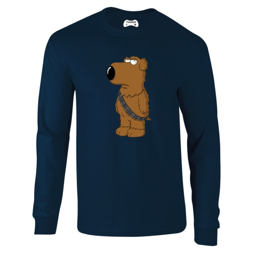 Family Guy Brian As Chewbacca Long Sleeve T