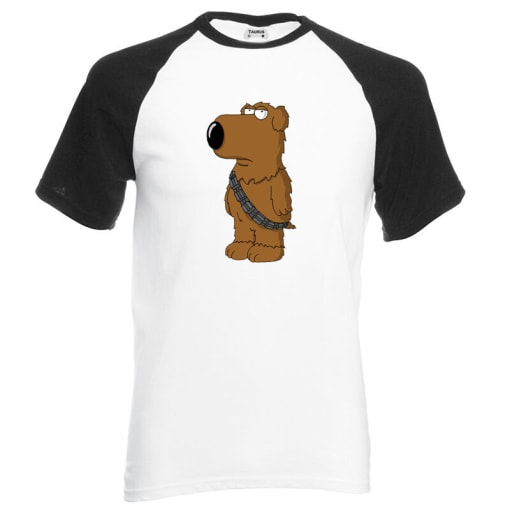 Family Guy Brian As Chewbacca Baseball T