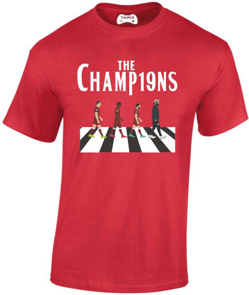Liverpool  League Winners T shirt 2019-2020 season crossroad design