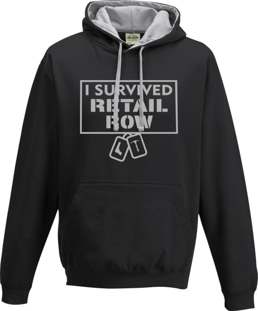 Fortnite 'I survived Retail Row' Contrast Hoodie