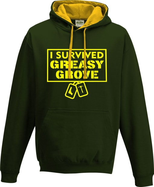 Fortnite 'I survived Greasy Grove' Contrast Hoodie