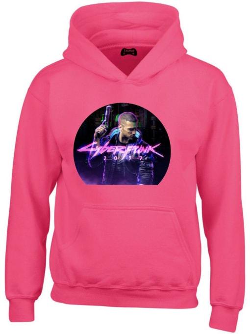 Cyberpunk 2077 Hoodie in Pink