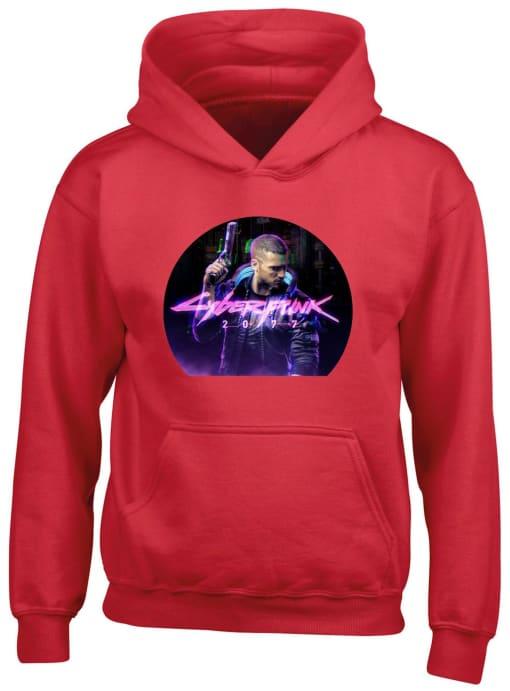Cyberpunk 2077 Hoodie in Red
