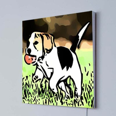 Personalised Canvas Dog Version