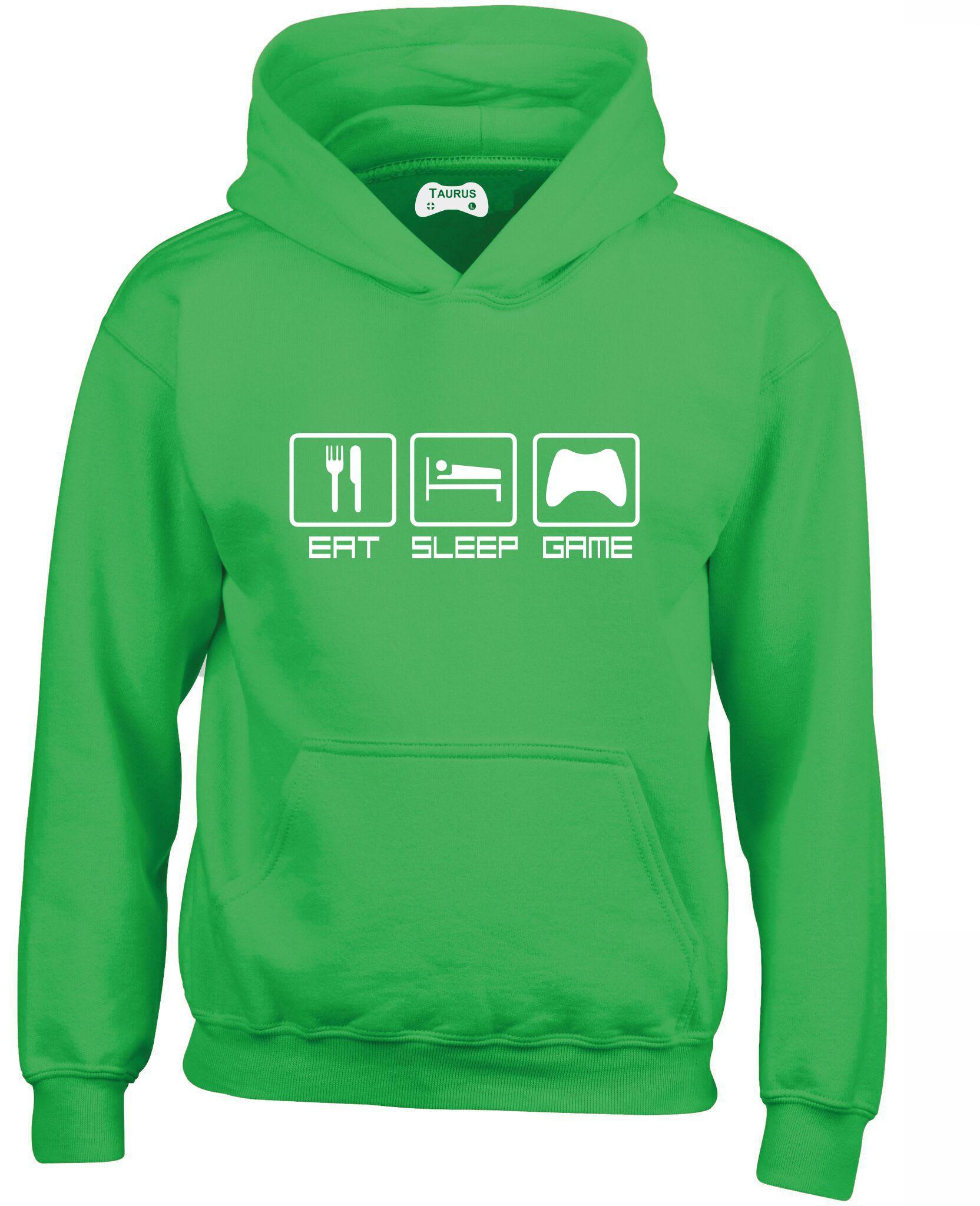 Eat Sleep Game Kids Hoodie