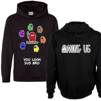 Among Us Imposter and Others Hoodie Front and Back Print