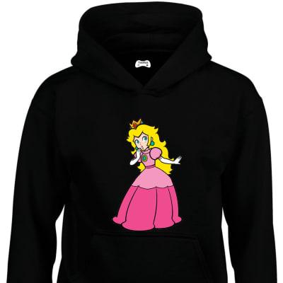 Princess Peach Toadstool Classic Gaming Character Hoodie