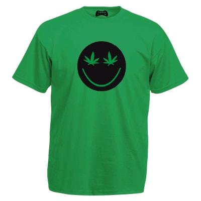 Smiley Face Green T-Shirt