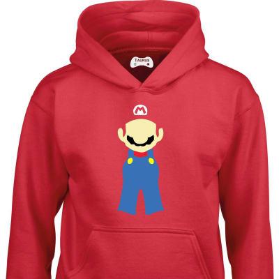 Red Mario Hood Kids Hoodie