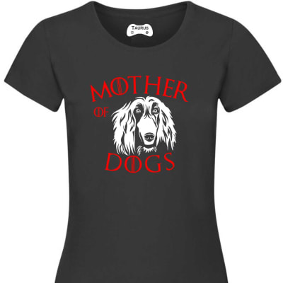 MOTHER OF DOGS AFGAN HOUND T SHIRT