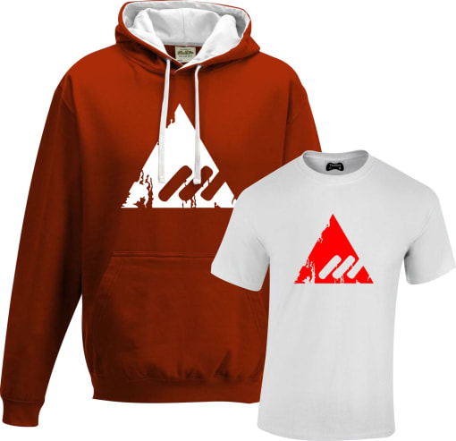 New Monarchy Contrast Hoodie and T shirt Set