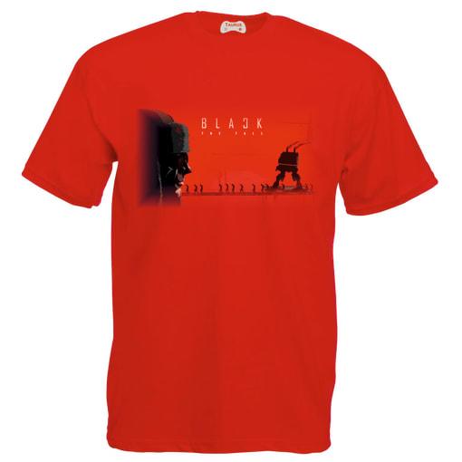 Black The Fall T-Shirt Red