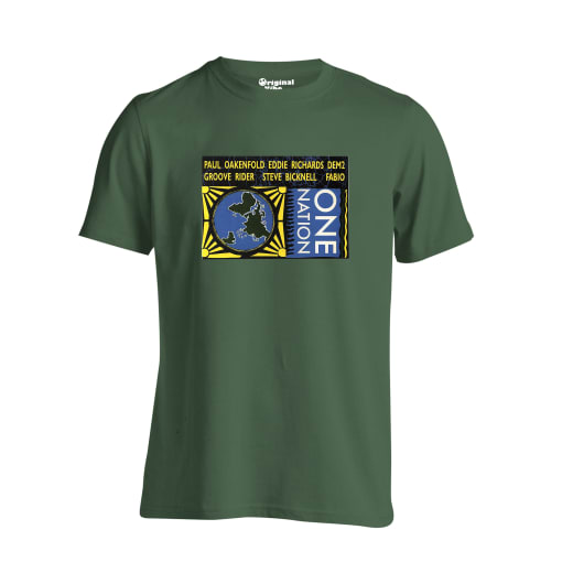One Nation 1989 West London Film Studios Flyer T Shirt