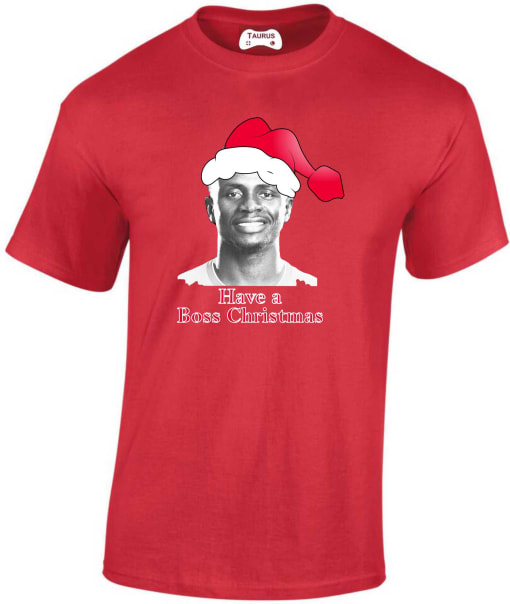 Liverpool Mane Boss Christmas T Shirt