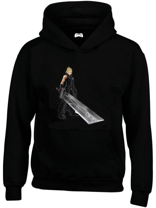Cloud Strife Classic Gaming Character Hoodie
