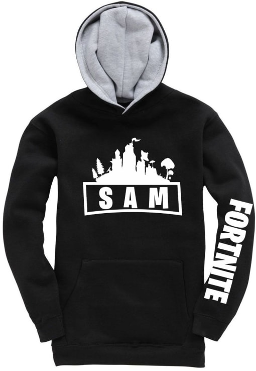 Fortnite logo personalised Contrast Hoodie
