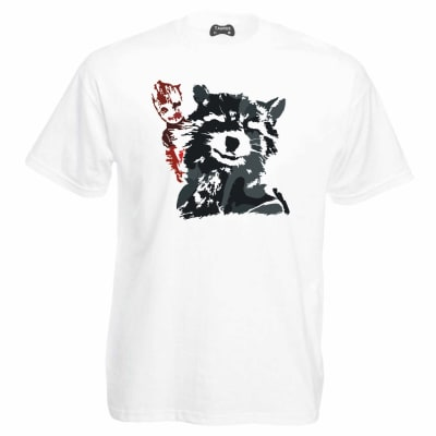Guardians Of The Galaxy T-Shirt Rocket And Groot