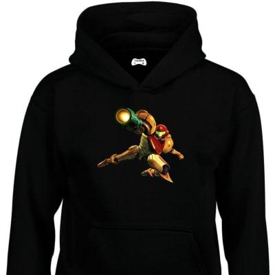 Samus Aran Classic Gaming Character Hoodie