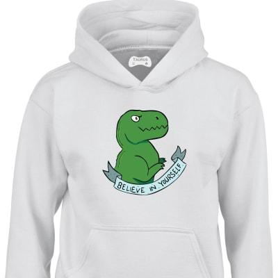 Believe Dinosaur Kids Hoodie
