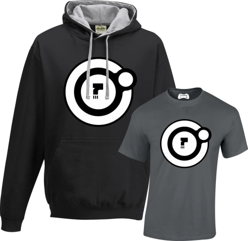 Dead Orbit Contrast Hoodie and T shirt Set