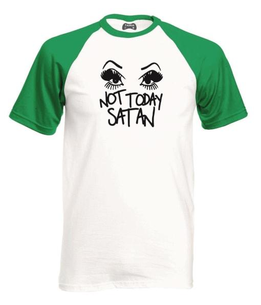 Not Today Satan Raglan T-Shirt