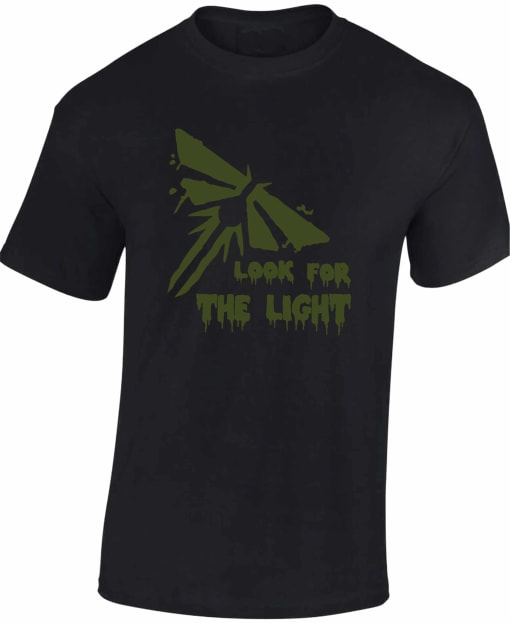 The Last of Us Part 2 Gaming T Shirt Look For the Light Firefly