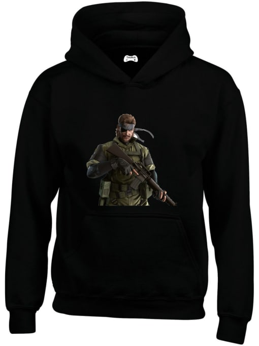Solid Snake Classic Gaming Character Hoodie