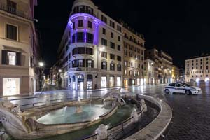 Piazza di Spangna by Night