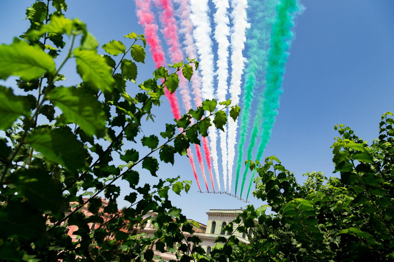 Secondo passaggio delle Frecce Tricolori
