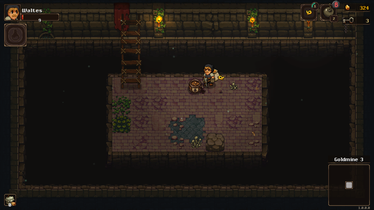 Exploring a new room in Undermine
