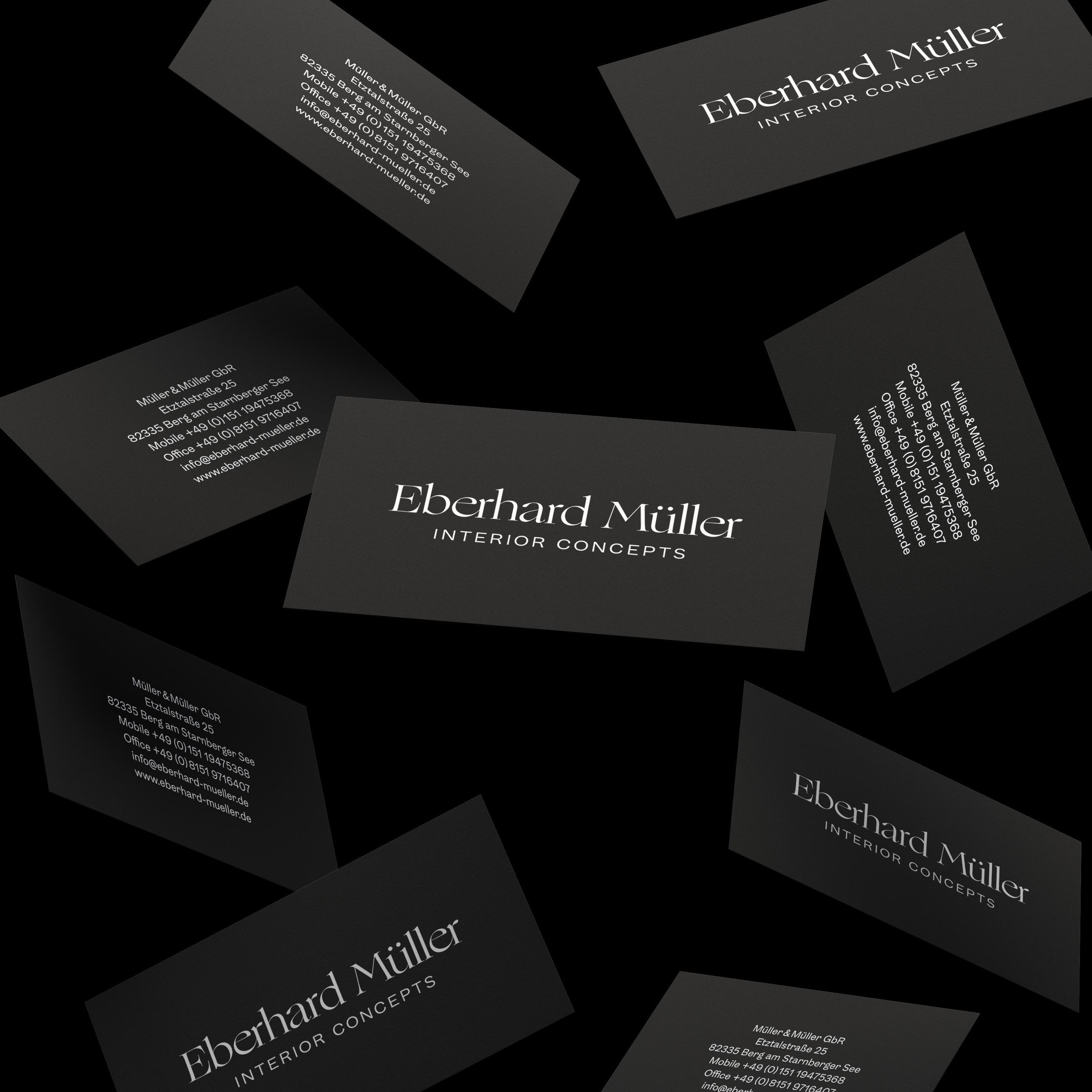 Redesigned business cards were part of brand's face lift.