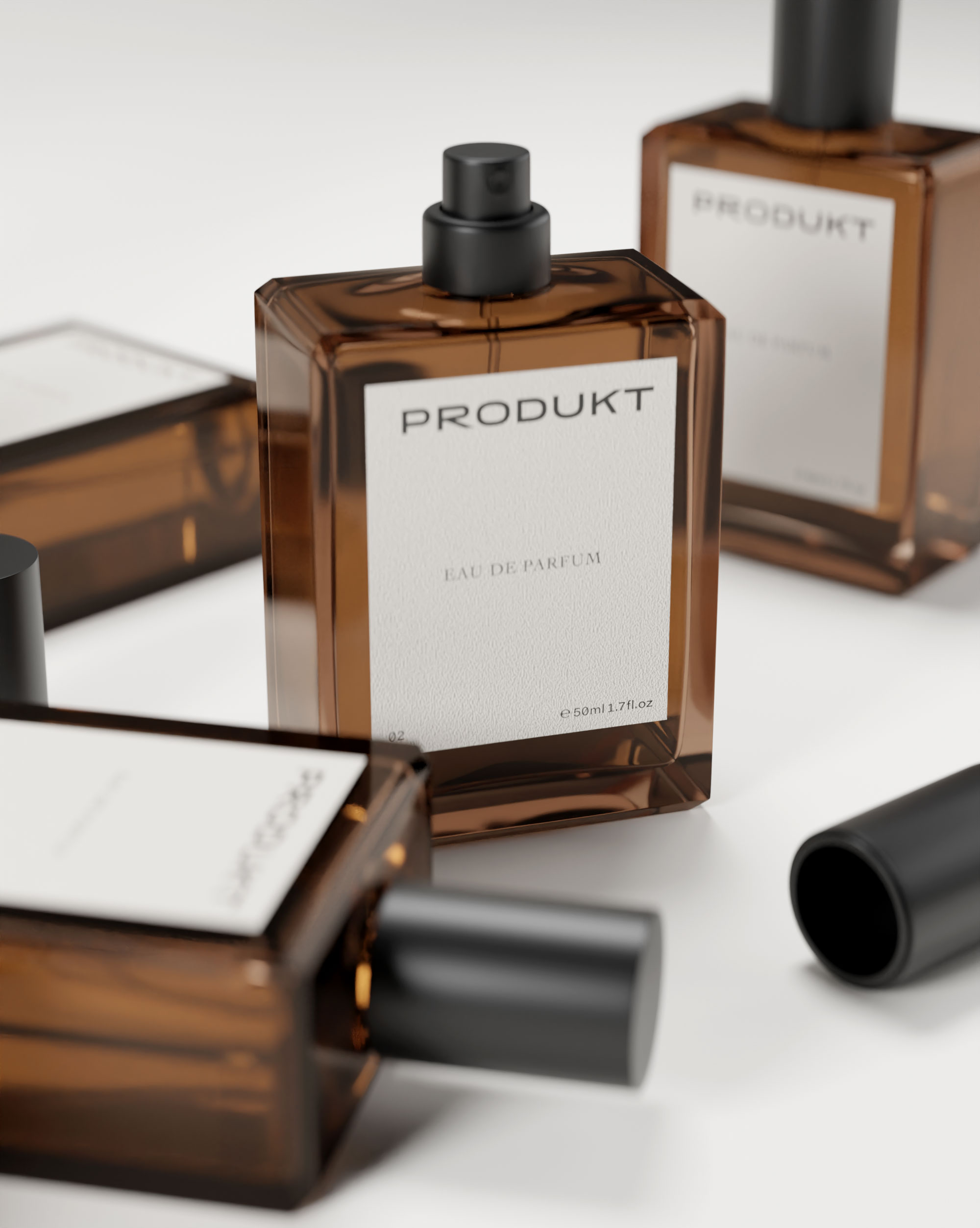 A perfume flask we designed for the brand.