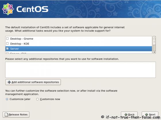 CentOS 5.9 Select installation type