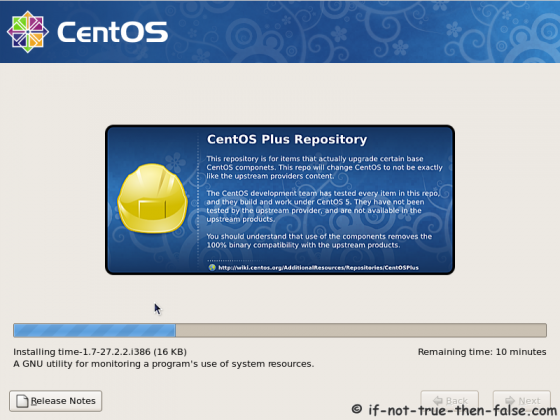 CentOS 5.9 Installing selected packages