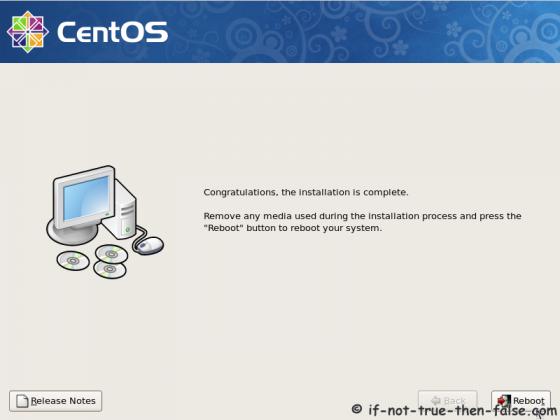 CentOS 5.9 Installation complete
