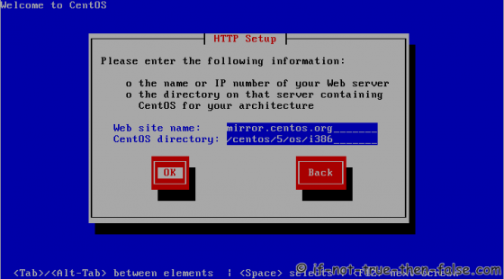CentOS 5 Netinstall url (http setup)