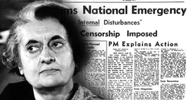 National Emergency Indira Gandhi