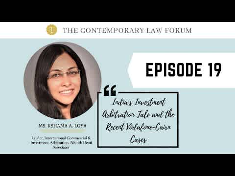Kshama Loya : India's Investment Arbitration