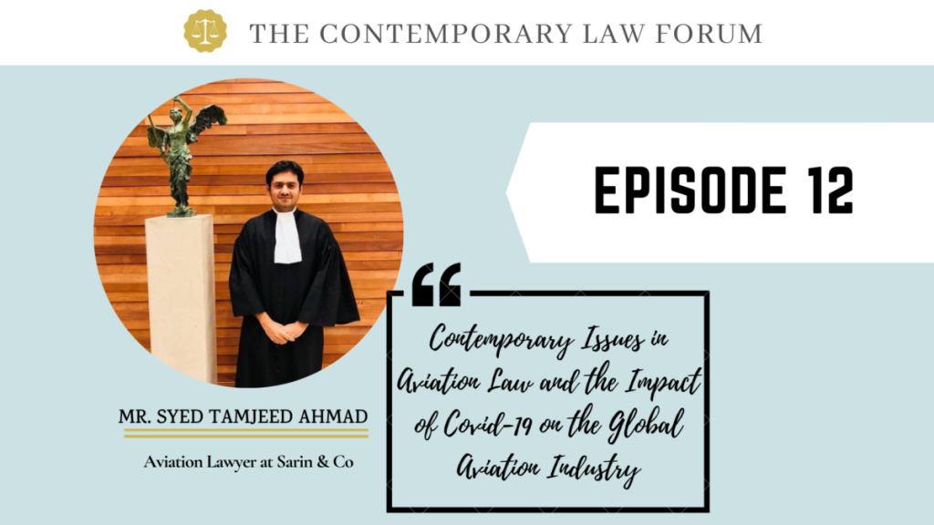 Syed Tamjeed Ahmad Aviation Laws