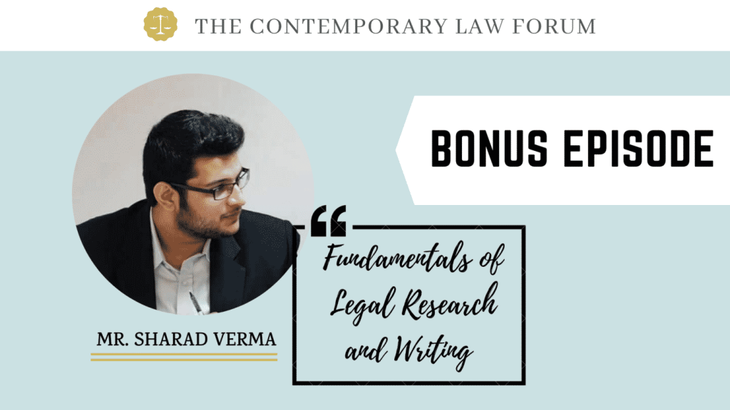 Legal Research and Writing TCLF One-on-One