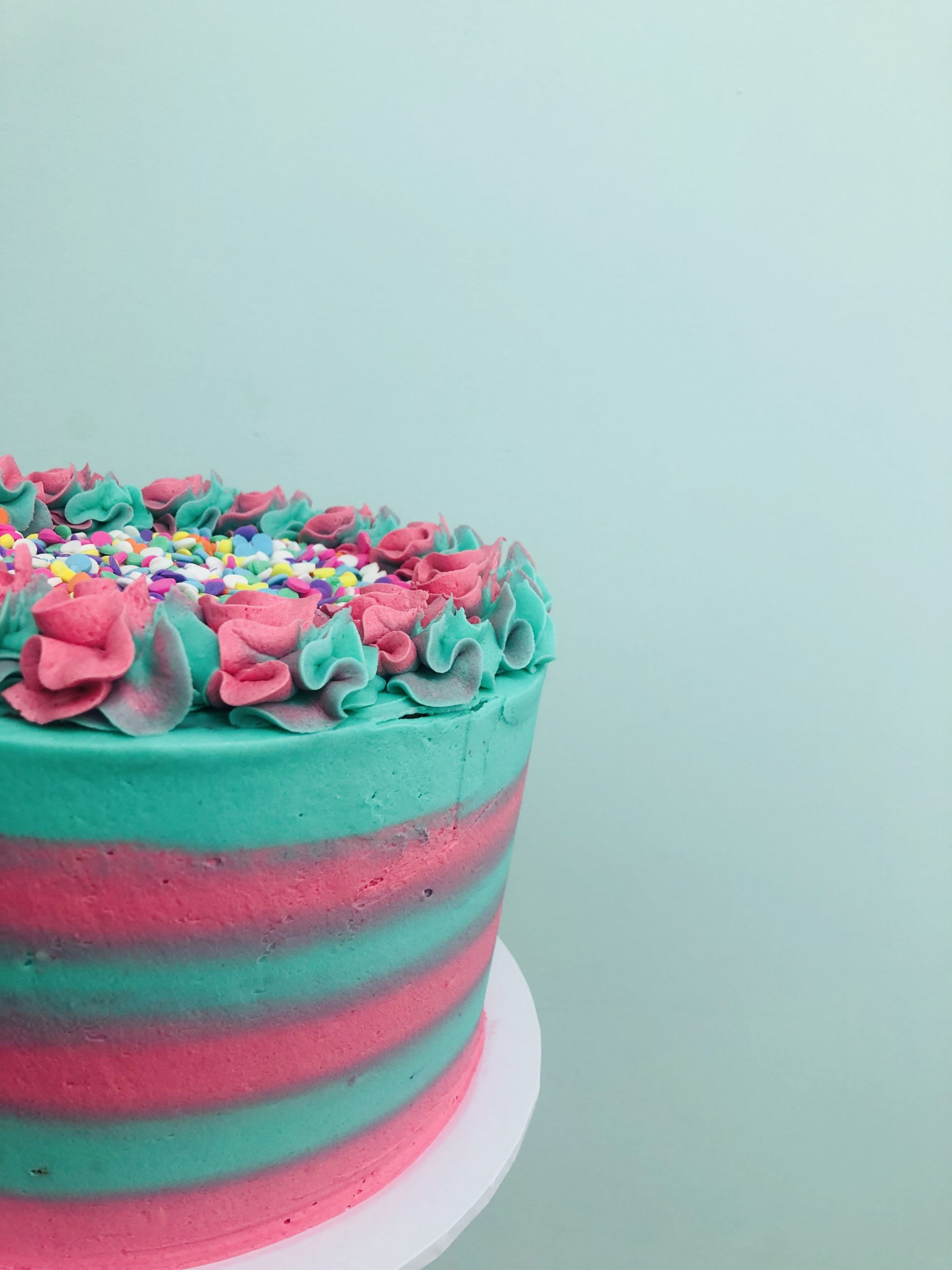 Bright Stripe Cake