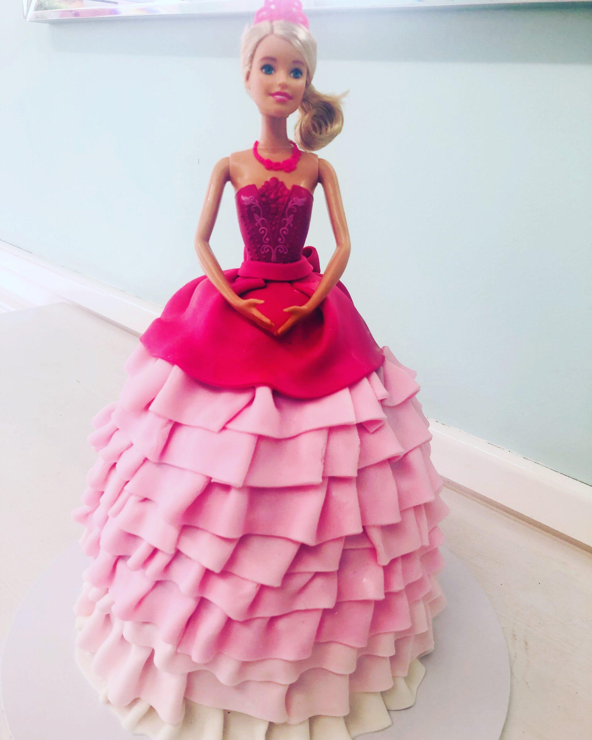 Pretty in Pink Barbie Cake