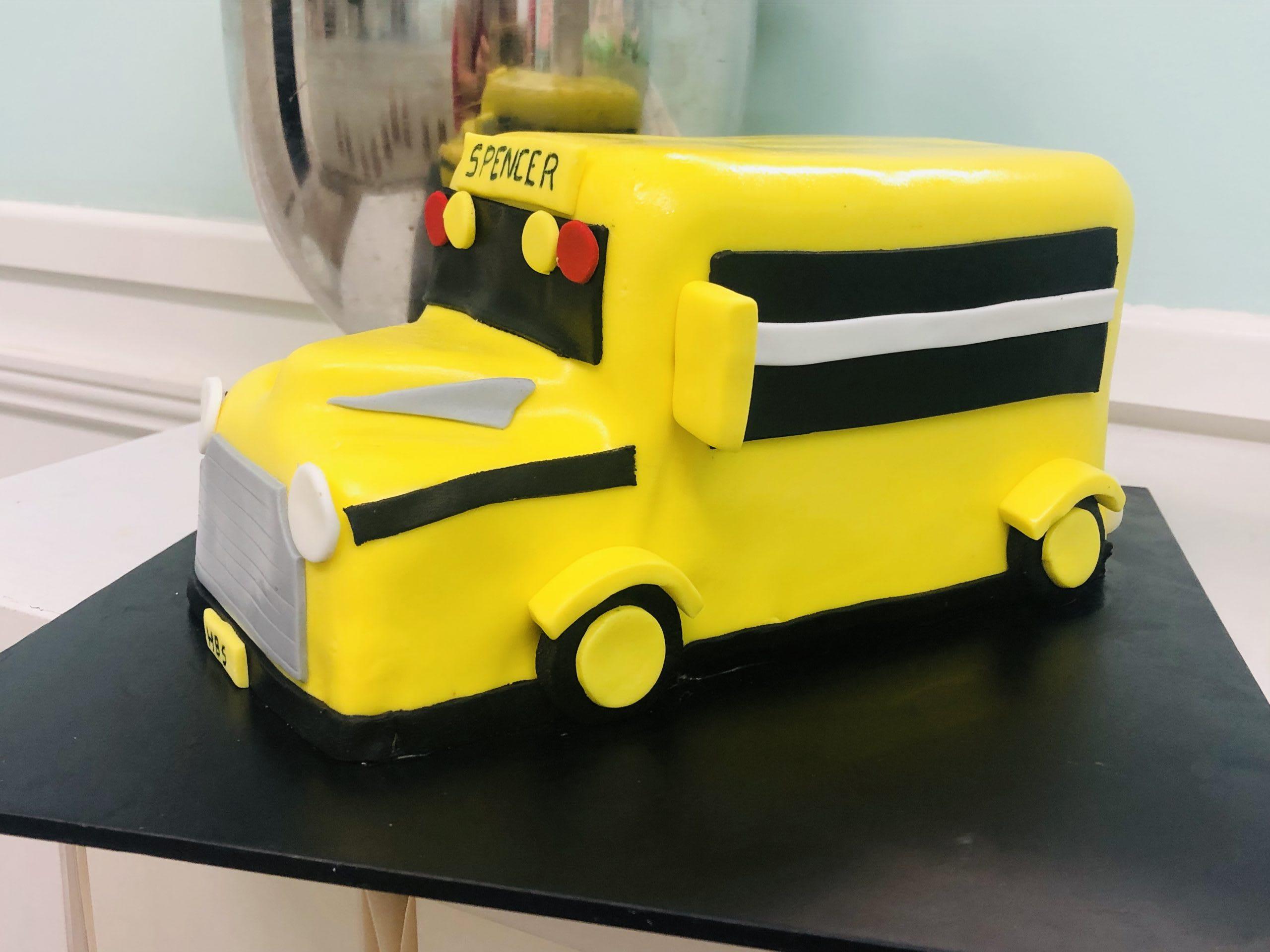 Big Yellow Bus Cake