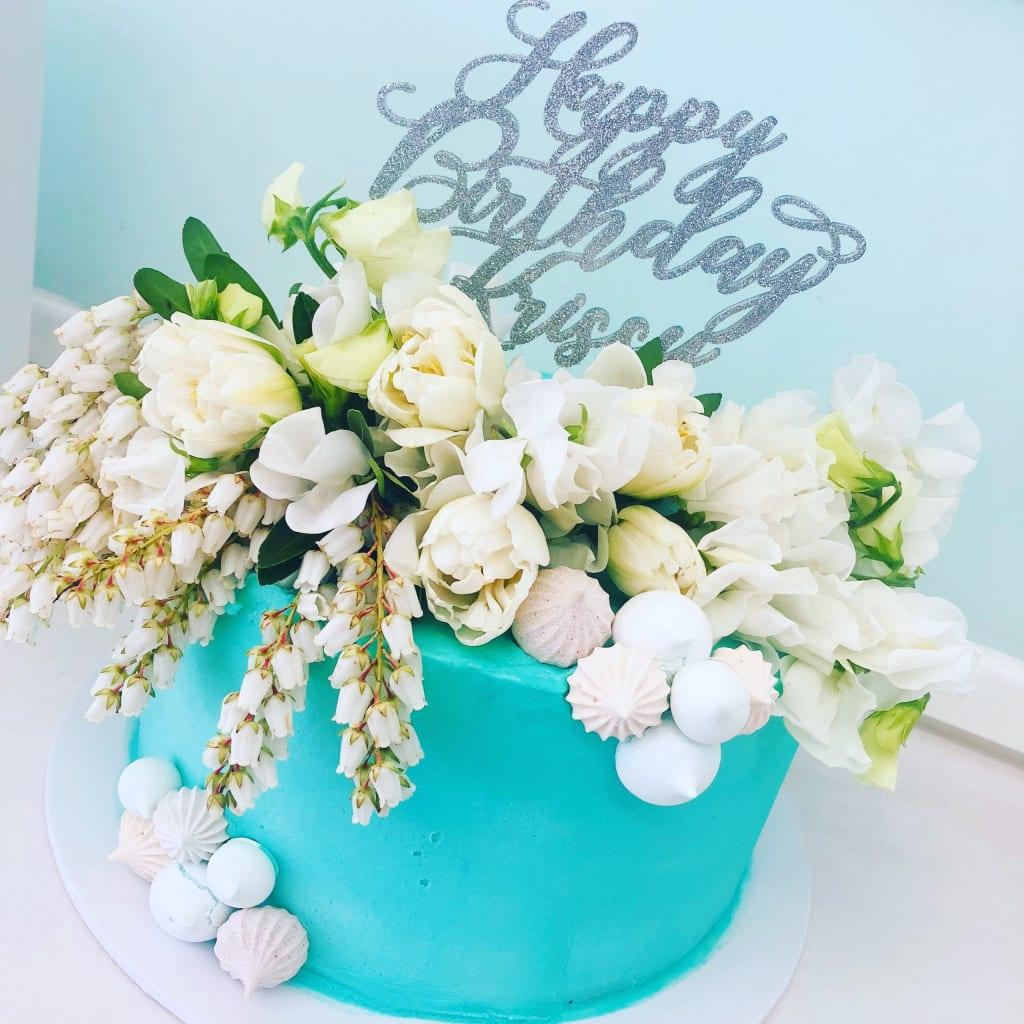 Flower Tower Cake