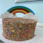 Rainbow Sprinkle short Cake